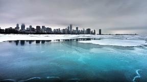 buz,şehir,göl,kar