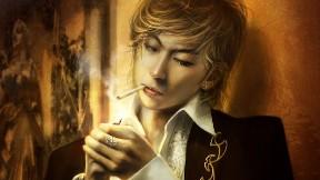 fantastik,kız,soyut,erkek,sigara