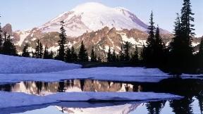 göl,doğa,kar,ağaç,dağ