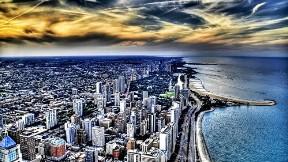 hdr,şehir,deniz,gökyüzü