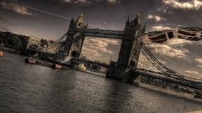hdr,londra,köprü,nehir