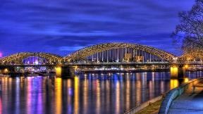 hdr,köprü,akşam,yansıma