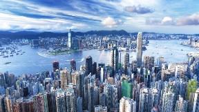 hong kong,şehir,akşam,kule