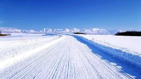 kar,yol,gökyüzü,doğa