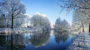doğa,nehir,kar