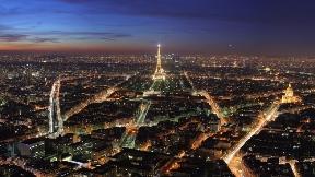 paris,şehir,akşam