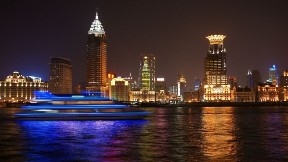 shanghai,akşam,deniz