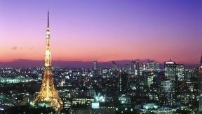 tokyo,şehir,kule,akşam