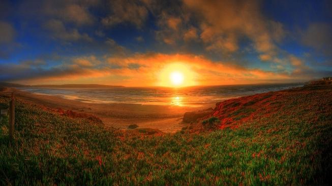 Deniz Üstünde Günbatımı