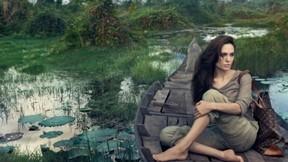 angelina jolie,aktör,sanatçı,doğa,göl