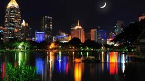 bangkok,şehir,tayland,gece,nehir