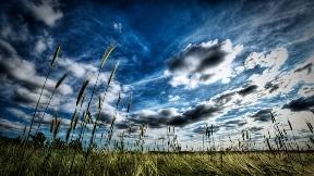 hdr,gökyüzü,ova,çimen,doğa