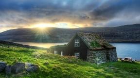 hdr,ev,manzara,deniz,çimen,doğa