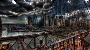 hdr,şehir,köprü,deniz,gökyüzü,bulut
