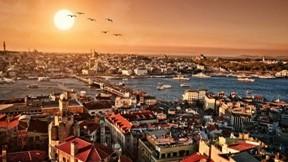 istanbul,şehir,deniz,gökyüzü,güneş