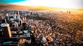 istanbul,günbatımı,şehir,kule
