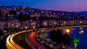 izmir,şehir,gece,deniz