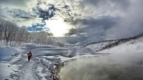 kar,doğa,kış,göl,gökyüzü,bulut