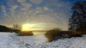kar,kış,buz,göl,günbatımı,gökyüzü