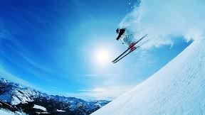 kayak,kış,gökyüzü,dağ,güneş