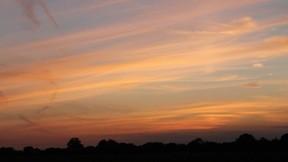günbatımı,gökyüzü,bulut,doğa