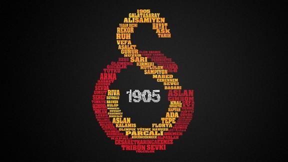 Yazılarla Galatasaray Logosu