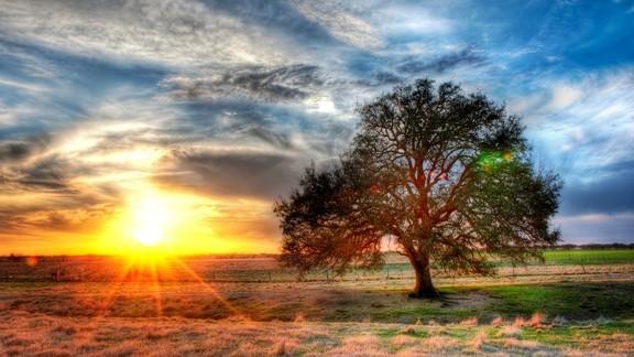 Günbatımı Manzara Masaüstü Arkaplanı