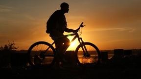 bisiklet,günbatımı,manzara
