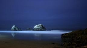 deniz,doğa,kumsal,plaj,kayalık,gece