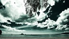 deniz,gökyüzü,doğa,bulut,kumsal