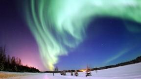 seher,kar,gökyüzü,ışık,ağaç