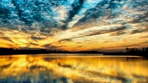 hdr,manzara,gökyüzü,günbatımı,göl