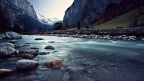 nehir,hdr,doğa,kanyon,ağaç,kar