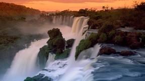Iguazu,şelale,doğa,günbatımı,orman