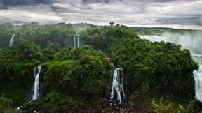 Iguazu,şelale,doğa,orman,gökyüzü