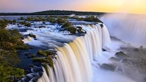 Iguazu,şelale,doğa,günbatımı,ağaç
