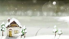 illüstrasyon,kış,soyut,ev,ağaç