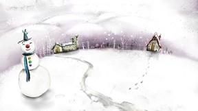 illüstrasyon,kardan adam,kar,kış
