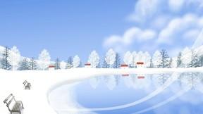 illüstrasyon,kar,kış,göl