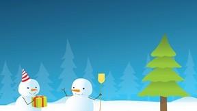 illüstrasyon,kardan adam,kar,kış,ağaç