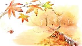 illüstrasyon,sonbahar,ağaç,keman,rüzgar