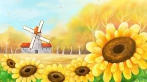 illüstrasyon,sonbahar,soyut,ayçiçeği