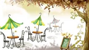 illüstrasyon,sonbahar,soyut,cafe,ağaç