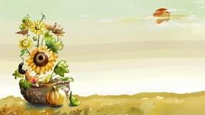 illüstrasyon,sonbahar,çiçek