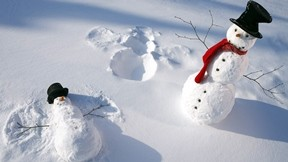 kar,kardan adam,kış,güneş