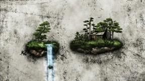 soyut,3d,hayal,su,ağaç