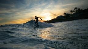 deniz,sörf,dalga,günbatımı