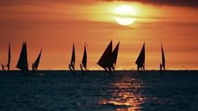 sörf,deniz,yelkenli,günbatımı