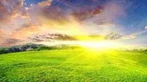 yaz,manzara,güneş,çimen,bulut,gökyüzü