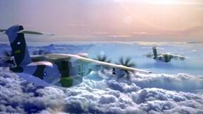 airbus,a400m,uçak,atlas,nakliye uçağı,gökyüzü,günbatımı